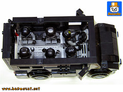 SWAT VEHICLE SMALL 02 (baronsat) Tags: lego swat vehicles truck van armed tactics heavy weapon special team police armored moc custom model instructions