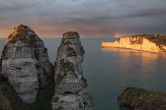 l'orage s'éloigne d'Étretat, Normandie, France (boooHguy) Tags: paysages mer sea sunset rainbow arcenciel falaise étretat normandie etretat