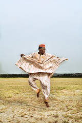 """Losing"" Amos. I. (adeoluosibodu) Tags: series field fineart horizon documentary landsape create art perosnal work selfportrait jump attire garment"
