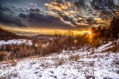 Sunset at Salisbury Mills (brianloganphoto) Tags: trees trestle iron mountian bridge orangecounty cloudy train landcape newyork field rural conditions salisburymills snow beaverdamlakesalisburymills unitedstates us