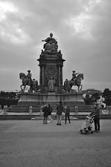 Happy Birthday Mary (Rene'D.) Tags: maria theresia wien vienna austria bw bnw sw schwarzweiss monochrom street streetphotography streetfotografie schwarzweis monochrome denkmal