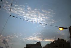 L1013688c (haru__q) Tags: leica m8 leitz summar cloud 雲 空 sky electrical wire electricwire 電線 street light 街灯 streetlight