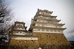 White Castle (tez-guitar) Tags: castle architect japan japanese sakura cherryblossom cherry blossoms bloom spring flower pentax pentaxart petal