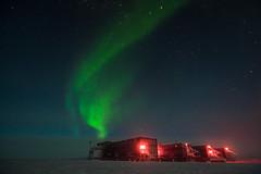 Green Station Exhaust (redfurwolf) Tags: southpole southpolestation aurora auroraaustralis antarctica antarctic night sky green light station snow ice dark outdoor nature landscape redfurwolf sonyalpha a99ii sony sal1635f28za