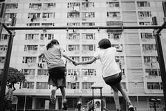 Old Time Swing (Ding Yuin Shan) Tags: 232summicron chaiwan leicat swing hongkong nostalgic blackwhite