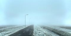 Fading lanterns. (Alex-de-Haas) Tags: smorgens 50mm alexdehaas d5 dutch hdr holland january nederland nederlands netherlands nikkor nikkor50mm nikon nikond5 noordholland thenetherlands westfriesland akker clouds cold countryroad daglicht damp daylight farmfield farmfields farmlands fog foggy frost handheld haze hazy highdynamicrange hoarfrost ice icy januari koud laaghangendebewolking landscape landscapephotography landschap landschapsfotografie landweg landweggetje licht light manage mist mistig misty morning nevel nevelig ochtend overdag polder rijp stables watervapor waterdamp weg winter wolken
