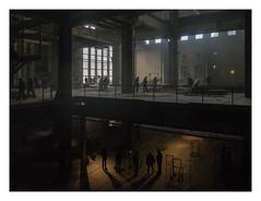 Zwanikkenfabriek (AurelioZen) Tags: europe netherlands zuidholland denhaag energiekwartier electriciteitsfabriek chistiaaanzwanikkenexhibition industrialredevelopment industrialrevitalization silhouettes shadowplay
