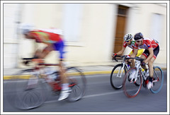 Cycle race. (my art through photography) Tags: 50mmf14 canon5dmk2 cyclerace france overtaking panning riberac speed wheels
