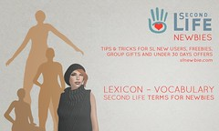 Lexicon – Vocabulary for Second Life terms (Jukeuh) Tags: secondlife newbie freebies lexicon vocabulary rez build alt attachment inworld lag landmark notecard linden dollar lucky chair noob sandbox sim sl slurl