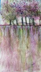 Caminos que dibuja el agua (benilder) Tags: acuarela aquarelle watercolor watercolour benilde