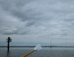 Clouds above the Jurassic Coast.... whilst messing about in boats.... rowing, sailing, dinghy racing and a navigation light... (Sue - happy sparrow) Tags: cloud weather clouds navigationlight oar rowing sailing yacht dinghy portland jurassiccoast portlandharbour dorset
