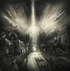 Vertigo Road ( sketch ) (Yaroslav Gerzhedovich) Tags: way road noir artwork sketch car 50s fantasy fiction square
