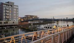 Flusskrebssteg Westhafen (cleversurf) Tags: frankfurtwesthafen westhafen ffm frankfurt frankfurtliebe
