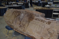 Xueshan Lin's Daruma (jjldickinson) Tags: nikond3300 105d3300 nikon1855mmf3556gvriiafsdxnikkor promaster52mmdigitalhdprotectionfilter longbeach day long beach convention center dtlb worldwoodday sculpture wood xueshanlin carving daruma