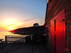 Outside the Red Door (photo fiddler) Tags: door red shed fishing wharf peggyscove april 2017 sooc