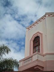 Art Deco, Napier NZ, In the pink (kimbar/Thanks for 2.5 million views!) Tags: artdeco balcony building napier newzealand palmtree pink window