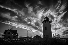 Cape Cod Lighthouse (Rodney Harvey) Tags: cape cod lighthouse race point atlantic ocean seashore lightkeeper house sunset infrared remote desolate beautiful isolation dunes sand