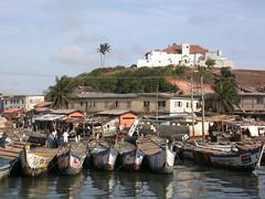 Elmina - Ghana (wietsej) Tags: elmina ghana nikon coolpix 4500 harbour ship landscape wietse jongsma