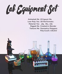 Laboratory Equipment Set (Chemistry) (hypesol) Tags: beaker chemical chemistry cylinder equipment erlenmeyer flask lab laboratory microscope science testtube