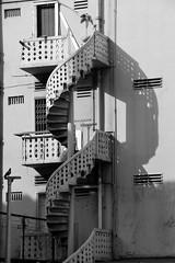 Little India, Singapore (Manoo Mistry) Tags: singapore littleindia buildings street outdoor enhancement nikond5500body nikon tamron tamron18270mmzoomlens shadows monochrome blackandwhite black white building balconies