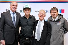 Paul Polman (Unilever) Charly Alberti (R 21) Rick Ridgeway (Patagonia) y Marcelo Mena (Ministro de Medio Ambiente)