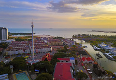 Taming Sari Tower, Malacca (by nelzajamal) Tags: aerial architecture art asia asian attraction background beautiful building business city color colorful culture decoration destination glass heritage high historic historical history holiday malacca malaysia melaka menara observation old red sari structure taming tourism tower traditional travel view