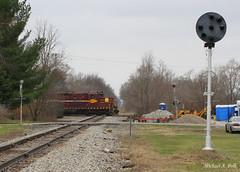 IBCX 814 @ Hanna, IN (Michael Polk) Tags: hanna indiana sdm duluth missabe iron range chesapeake ohio pennsylvania prr position light union mills freight train