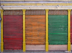 ... (Jean S..) Tags: colors colorful red orange green doors matanzas cuba