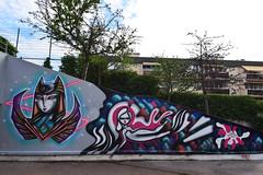 Kaldea Nakajima   •  Anthea Missy (HBA_JIJO) Tags: streetart urban graffiti vitry vitrysurseine art france artist hbajijo wall mur painting peinture kaldeanakajima murale paris94 spray woman femme urbain girl kaldea antheamissy