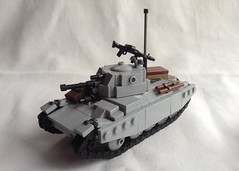 SKs Type 38 (Papa Stalin) Tags: lego tank wwii white ww2 mg34 brickarms