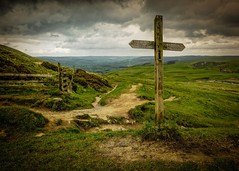 A view of Hope (Mick Weaver) Tags: signpost mamtor peakdistrict hope