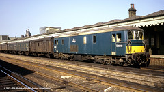 c.1970 - Redhill, Surrey. (53A Models) Tags: britishrail classjb class73 e6049 73142 73201 electrodiesel mail parcels redhill surrey train railway locomotive railroad