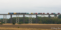 Moorabool Viaduct (Henrys Railway Gallery) Tags: g522 gclass xr557 xrclass x43 xclass emd diesel clyde pn pacificnational containertrain loadedcontainertrain freighttrain loadedfreighttrain merbein mildura appletondock milduragoods westernvictoria northwestvictoria moorabool mooraboolviaduct