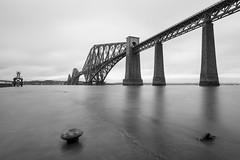 On ice (Cary Strachan) Tags: scotland edinburgh bridge railway iconic train steel sea water engineering architecture outdoor reflection nikon d7200 longexposure nd ndfilter monochrome blackandwhite