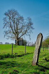 Old Post (scottprice16) Tags: england lancashire clitheroe salthills barn post gatepost abandoned fields farming path ribblevalley view landscape spring april sunshine sun fujixpro1 35mmf14r