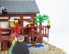 Tabashii's Tea House - Tree of Contemplation (Cuahchic) Tags: lego foitsop japan cha teahouse skudae landsofroawia loreos culture moc build wooden timber tree minifig mongols