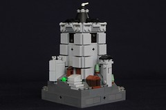 Summer Joust Prize: Faerdham Keep (soccersnyderi) Tags: lego moc creation micro castle medieval keep fortress tower landscape design window roof