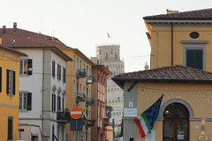 Pisa street and Leaning Tower, Italy (mattk1979) Tags: pisa italy leaningtower torre buildings
