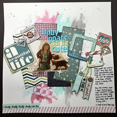 Baby Goats are so Cute! (girl231t) Tags: 2016 paper scrapbook layout 12x12layout