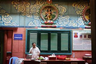 Blessed lunch, Miramman hindu temple Saigon