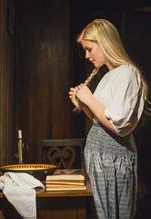 Remake of a Masterpiece (creactivphoto) Tags: remake albertanker painter switzerland model blonde longhair beauty chiaroscuro painting art fineart nikon 50mm girl portrait