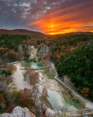 Sunset Over Arbuckle Wilderness (Calpastor) Tags: turner falls waterfalls oklahoma travel destination swimming hole sunset landscape clouds water park trails trip november color forest wilderness arbuckle okc