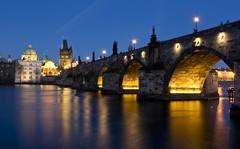 Blue hour Prague - Charles Bridge (kalakeli) Tags: karlůvmost karlsbrücke charlesbridge prague prag praha march märz 2017 water wasser rivers flüsse vltava moldau langzeitbelichtung longexposure bluehour blauestunde blue bridges brücken