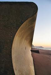 First Defence (Gary Baldy) Tags: beach sunrise concrete sand pentax seawall devon teignmouth coastaldefence k20d