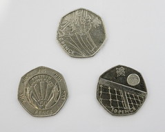 50p Editions (Szmytke) Tags: uk money sport scotland coin anniversary special nhs olympic 50 edition variation pence 50p