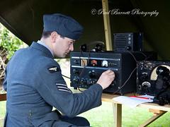 Raf Radio Operator (slaup) Tags: portrait radio concentration uniform military wwii communication equipment 1940s ww2 reenactor raf authentic sergeant haworth aircrew