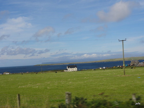 126-On the road to Castle of Mey, Scotland....