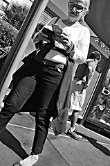 Trickster  !!! (imagejoe) Tags: street vegas people blackandwhite reflection nikon shadows lasvegas nevada strip thestrip