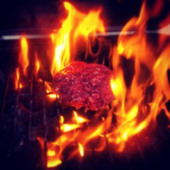 Flame grilled #notburgerking (michauxjp) Tags: square squareformat iphoneography instagramapp xproii uploaded:by=instagram