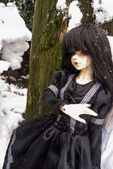 Acacia -Go Away- (DeadlyMyobi) Tags: winter snow vampire bjd yume dollzone